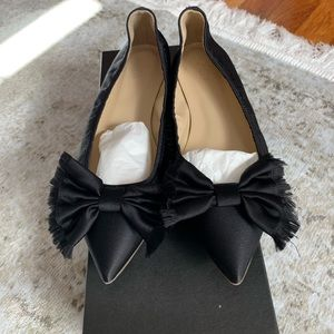 NIB J.Crew Lottie Frayed Bow Flat Size 8